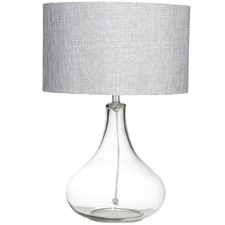Silver Paloma Glass Table Lamps (Set of 2)