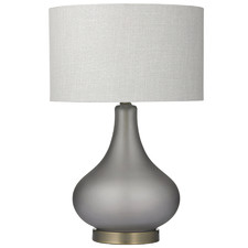 Smoke Grey Harley Glass Table Lamps (Set of 2)