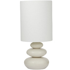 Ivory Pebble Ceramic Table Lamps (Set of 2)