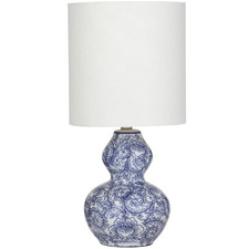 Blue Mila Ceramic Table Lamps (Set of 2)