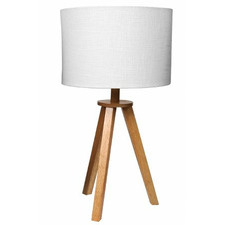 Ono Wooden Tripod Table Lamps (Set of 2)