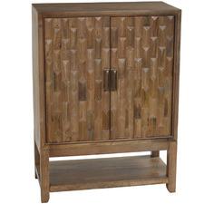 Carson Mango Wood Wine Buffet