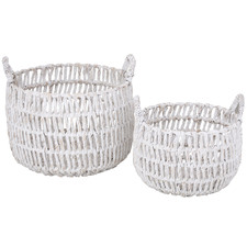 2 Piece Rory Water Hyacinth Basket Set