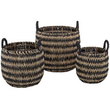 3 Piece Vas Seagrass Basket