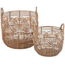 2 Piece Alfa Rattan Basket Set