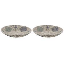 Como I Seagrass Decorative Bowls (Set of 2)