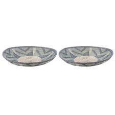 Como II Seagrass Decorative Bowls (Set of 2)