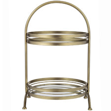 Tater 2 Tier Metal Serving Stand