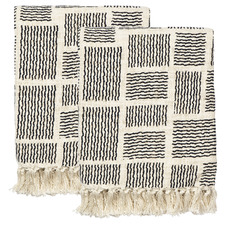 Fringed Tilly Cotton Throws (Set of 2)