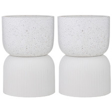 Etiene Ceramic Dual Planter Pots (Set of 2)