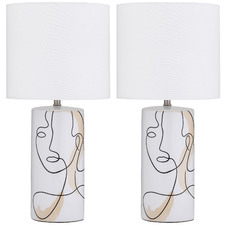 Fillara Ceramic Table Lamps (Set of 2)