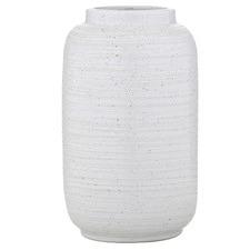 White Flin Ceramic Vase
