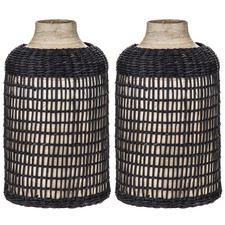 Haram Bamboo Vases (Set of 2)