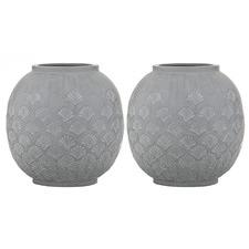 Grey Aurin Ceramic Vases (Set of 2)