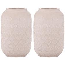 Pink Aurin Ceramic Vases (Set of 2)