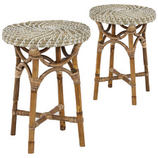 Como Rattan Side Tables (Set of 2)