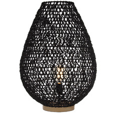 Black & Natural Lonsdale Table Lamps (Set of 2)
