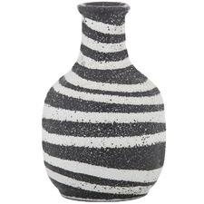 Black & White Abena Ceramic Vessels (Set of 2)