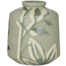 Green & Ivory Moss Ceramic Vessels (Set of 2)