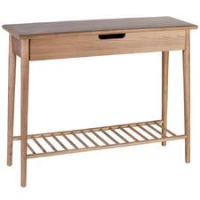 Natural Jenson Ash Wood Console Table