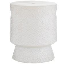 Matte White Celestino Ceramic Side Table