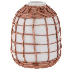 White Watego II Ceramic & Rattan Vessel