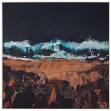 Coastline Framed Canvas Wall Art