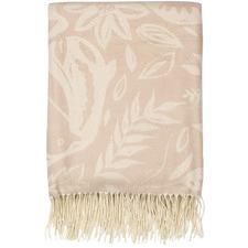 Blush Fringed Floral Throws (Set of 2)