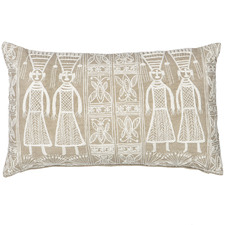 Cream Pilcro Cotton Cushions (Set of 2)