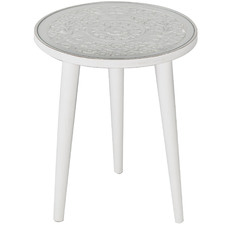 White Nayana Mango Wood Side Table