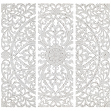 3 Piece White Nayana Wall Accent Set