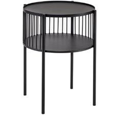 Black Fabien Iron Side Table