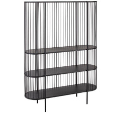 Black Fabien 3 Tier Iron Shelving Unit
