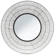 Black Nandi Iron Wall Mirror