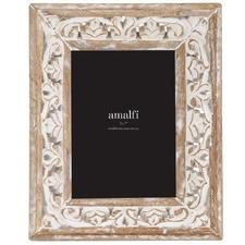 """White Washed Akshay 5 x 7"""" Wooden Photo Frame"""