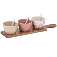7 Piece Mischa Condiments & Tray Set