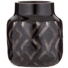 Black Shibori Ceramic Vessels (Set of 2)