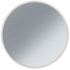 White Neesa Round Metal Wall Mirror