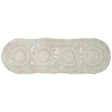White Washed Melody Jute Table Runners (Set of 2)