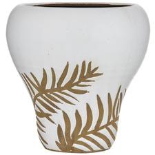 White Botanics II Terracotta Vase