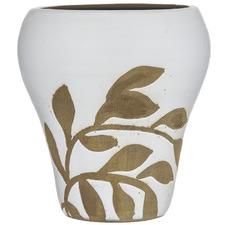 White Botanics III Terracotta Vase