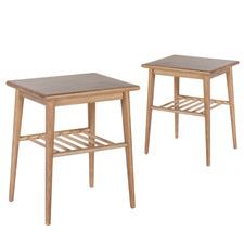 Natural Jenson Ash Wood Side Tables (Set of 2)