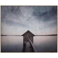 Lakehouse Framed Printed Wall Art (Set of 2)