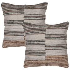 Brown Aryan Square Cushions (Set of 2)