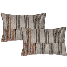 Brown Aryan Rectangular Cushions (Set of 2)