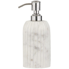 White Issey Marble Soap Dispenser