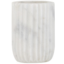 White Issey Marble Toothbrush Holder