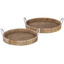 2 Piece Fairhaven Bamboo Tray Set