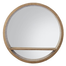 Natural Chelsea Wooden Mirror with Shelf