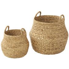 2 Piece Enlai Water Hyacinth Basket Set